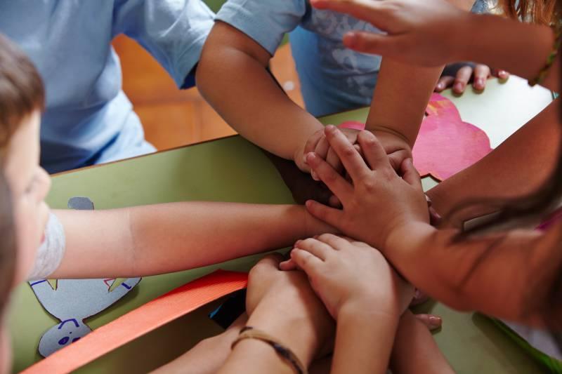 collaborazione tra bambini